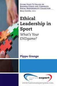 Book jacket for Ethical Leadership in Sport