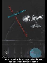 cover of Brecht Sourcebook