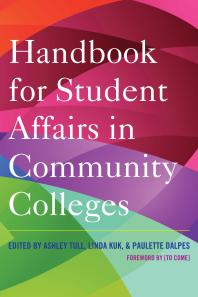 Book jacket for Handbook for Student Affairs in Community Colleges