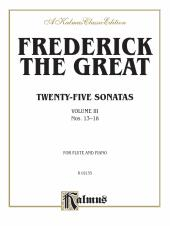 Twenty-five Sonatas, Volume III (Nos. 13-18) : Flute Collection