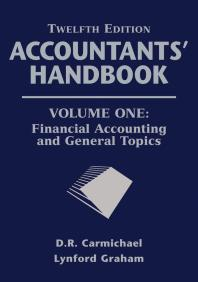 Book Cover - Purple cover with gray lettering - Accountants' Handbook